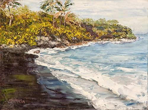 """Impressionism Seascape,Coastal Art Painting """"Beauty and the Beach"""" by Florida Impressionism Artist Annie St Martin"""