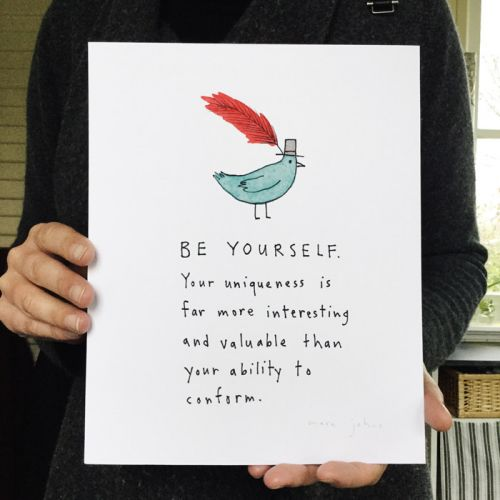 New print: Be yourself