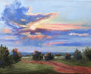 Here Comes the Sun, New Contemporary Landscape Painting by Sheri Jone