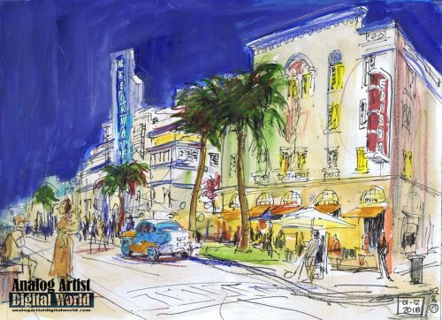 Art Deco Urban Sketch Weekend in Miami