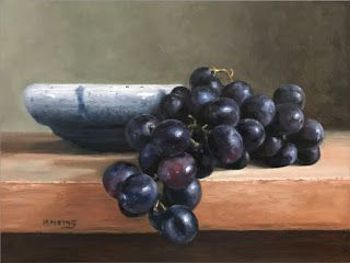 Black Grapes with Pottery-SOLD