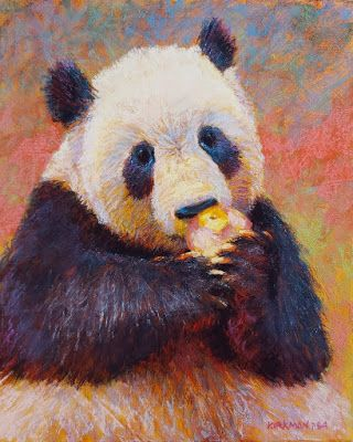 Warm Fuzzy 26 - Panda Eating an Apple