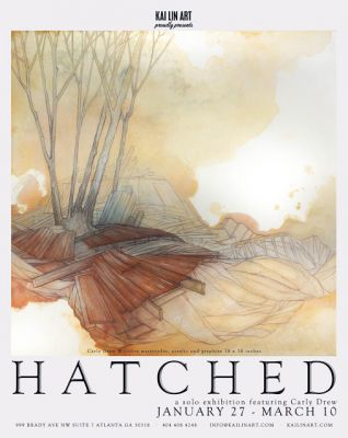 "Carly Drew, Clemson University MFA in Art Alumna, in ""Hatched"" with Thomas Turner at Kai Lin Art"