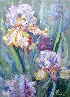Frilly Flowers, New Contemporary Painting by Sheri Jones