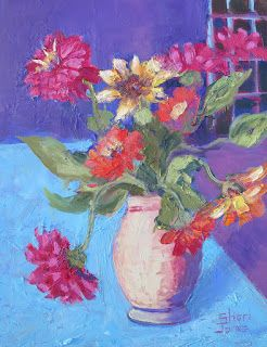 Painted Posies, New Contemporary Still Life Painting by Sheri Jones