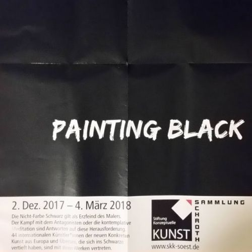 Painting Black on View at the Raum Schroth, Museum