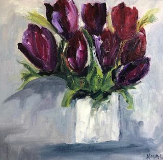 Royal Blooms by Texas Artist Kathy Baker Mackey