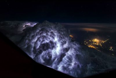 This 747 Pilot Shoots Incredible Photos of Storms and Skies
