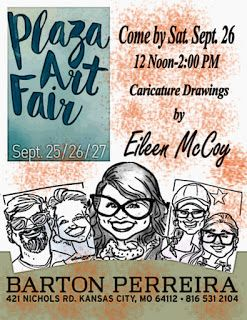 FREE CARICATURES- PLAZA ART FAIR THIS SATURDAY, SEPT 26,2015