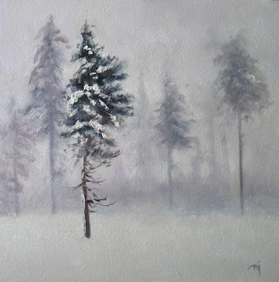 Pines in the Snow