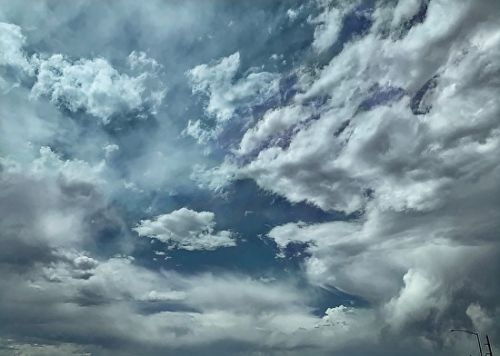 "Nature Fine Art Photography, Sky, Clouds ""Glancing Upward"" by Colorado Photographer Kit Hedman, Boarding House Studio Galleries, Denver"