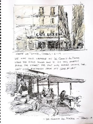 """""""Sketches from Paris"""" Rick Steves, Paris in seven Days, travelogue by Robin Weiss"""