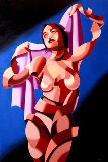 Mark Webster - Jenn B. - Abstract Nude Figurative Oil Painting