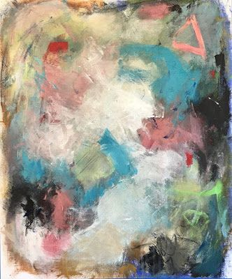 "Abstract Art, Expressionism, Contemporary Painting ""Time Travel"" by Oklahoma Artist Nancy Junkin"