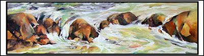 Water Dance..Oil.Texas Artist..Rae Andrews