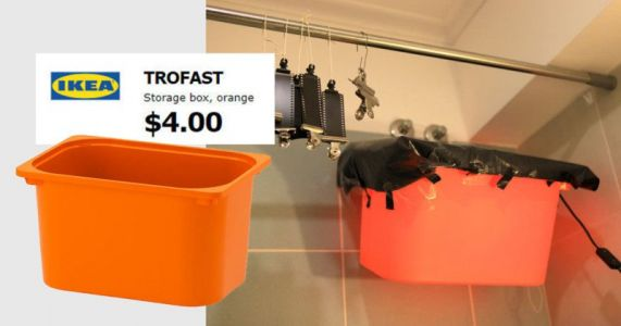 Make a $12 DIY Darkroom Safelight With IKEA's Storage Box
