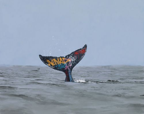 Awesome Paintings of a Graffiti-Covered Earth by Josh Keyes