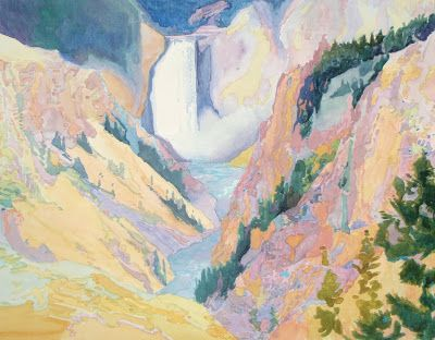 """Yellowstone, Lower Falls in LPAPA """"Salute our National Parks"""" Exhibit, July 3 to 31st"""