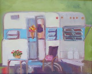 Vintage Camper, New Contemporary Painting by Sheri Jones