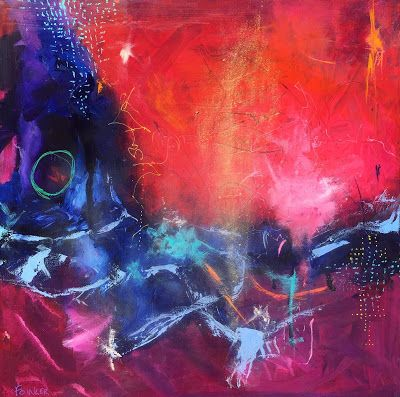 """Contemporary Painting, Expressionism, Abstract Art, """"December Restoration"""" by Contemporary Expressionist Pamela Fowler Lordi"""