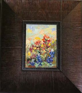 New Bluebonnet and Indian Paintbrush oil painting by Niki Gulley