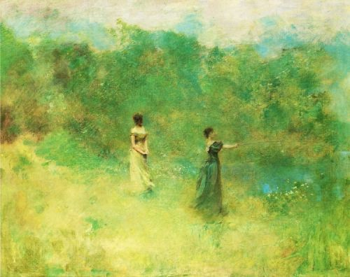 Thomas Wilmer Dewing's Outdoors Scenes