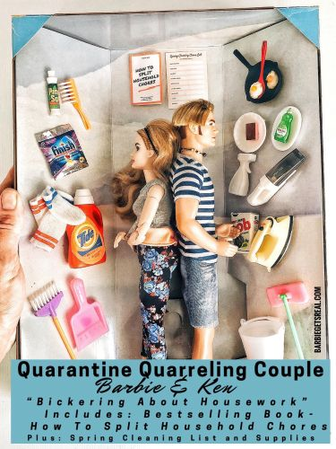 Barbie and Ken Get Relatable Quarantine Makeovers in Humorous Miniature Sets