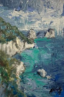 Painting the Amalfi Coast by Contemporary Expressionist Niki Gulley