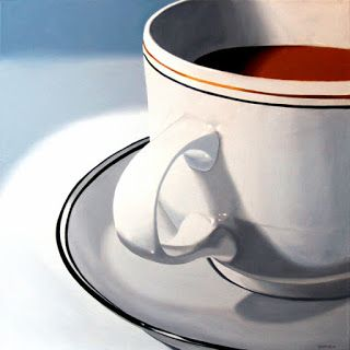 Mark Webster - Large Coffee Cup Still Life Oil Painting