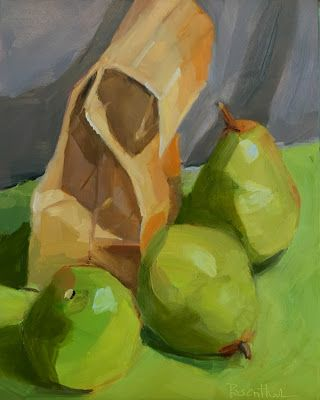 Pears and Bag