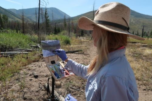 Plein Air Landscape Painting Workshop in Seeley Lake, Montana June 6-7, 2020