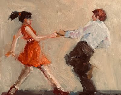 New Year's Jive - original figurative oil painting