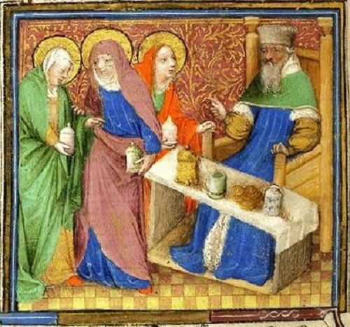 Easter - Anointing The Body - Illuminated Manuscripts