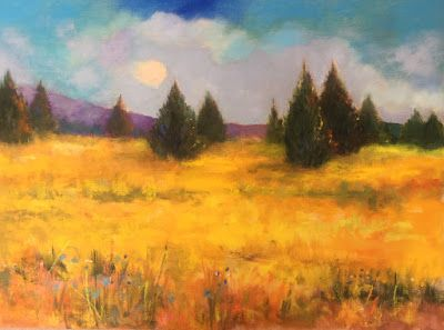 "Oil Landscape, ""Fields of Gold,"" by Amy Whitehouse"