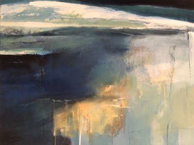 "Contemporary Abstract Landscape Painting ""Reason to Believe"" by Intuitive Artist Joan Fullerton"