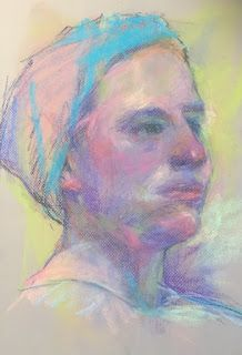 TURBAN - pastel by Susan Roden