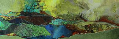 "Mixed Media Geologic Abstract Fine Art Print ""Primordial Soup"" © Carol Nelson Fine Art"