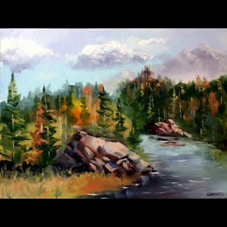 Mark Webster - Forest River Landscape Oil Painting