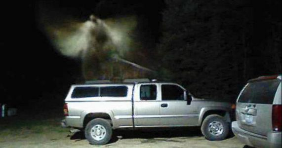 Man Claims Photo Shows Angel Above His Truck