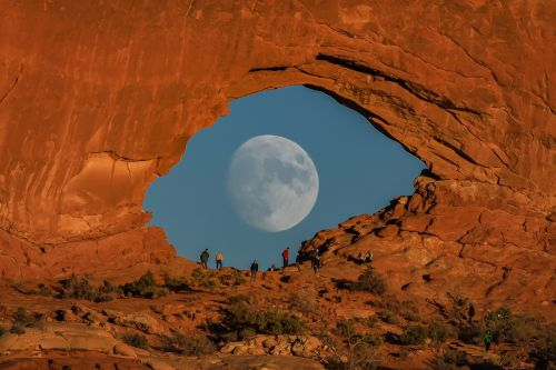 Who's Watching Who? The Moon Forms A Massive Eye Peering Out Over Utah