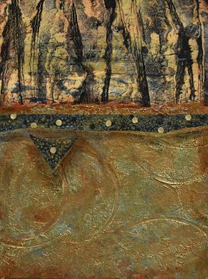 """Contemporary Art, Abstract Landscape """"Music in the Trees"""