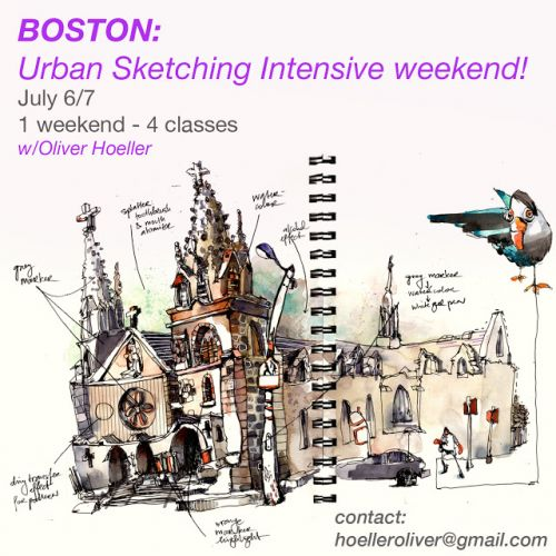 USk Workshop: Urban Sketching Intensive Weekend in Boston!