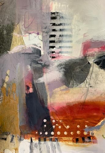 """Contemporary Abstract Fine Art Painting """"OPENING UPWARD"""" by Intuitive Artist Joan Fullerton"""