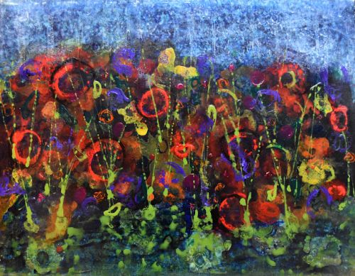 Midnight Garden Paintings Reworked