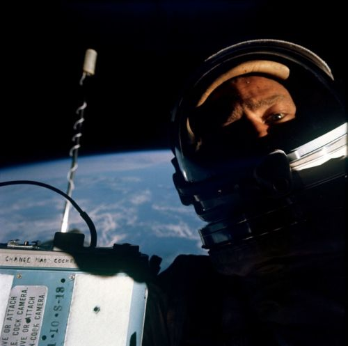 Buzz Aldrin Shot the First Space Selfie in 1966