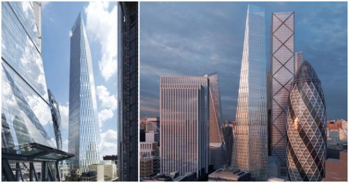 SOM Receives Planning Permission for Angular Skyscraper in City of London