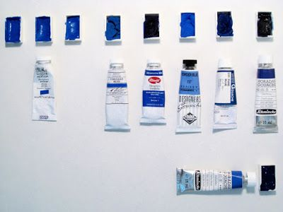 Gouache Tests: Consistency, Smell, and 'Re-Wettability'