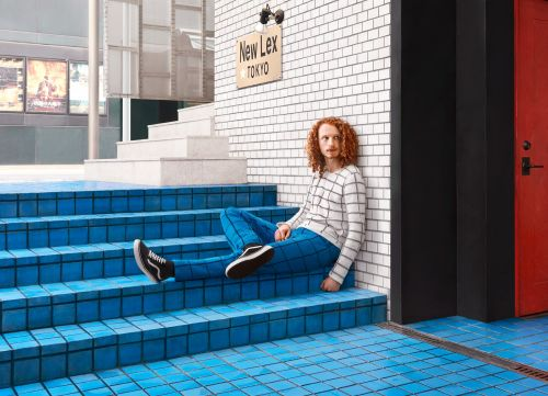 Custom Hand-Knit Sweaters Blend Subjects into Urban Environments