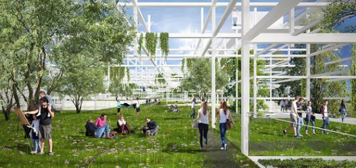 Sustainable Proposal Envisions Krakow's New Science Center as a Tiered Garden