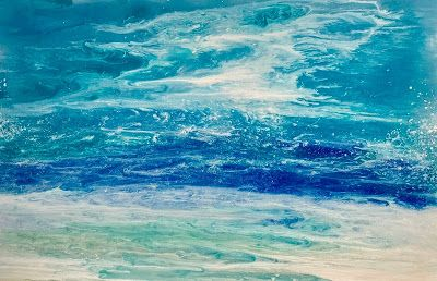 FLASH SALE, Coastal Art, Abstract Seascape, Beach Art